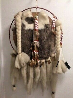 Vintage 1970's Native American DREAM CATCHER Indian Feathers from Nevada