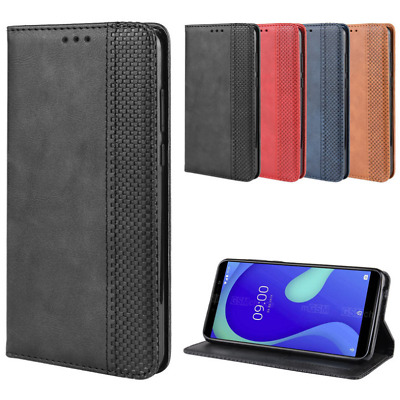 For WIKO Y80 Luxury Magnetic Classic PU Leather Wallet Flip Case Cover