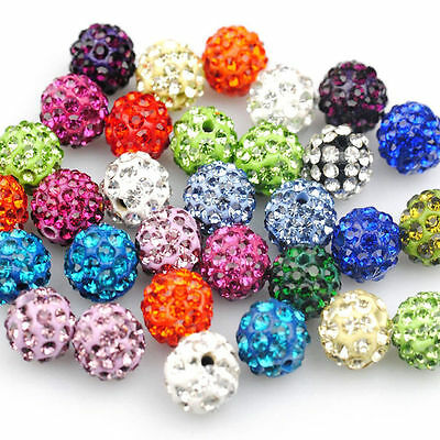 500X Quality Czech Crystal Rhinestones Pave Clay Round Disco Ball Spacer Beads