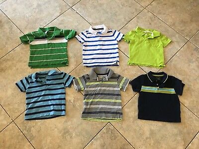 Lot Of 6 Baby Toddler Boy Collared Short Sleeve Shirts 18-24 Months