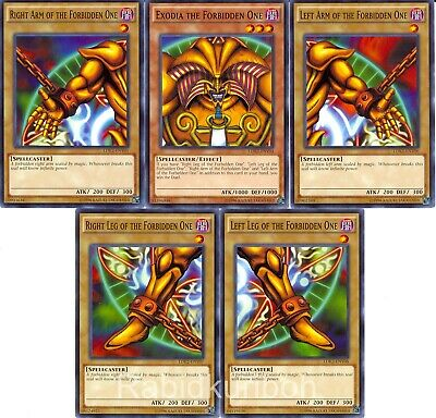 Yugioh Exodia The Forbidden One Set - 5 Card Lot - LDK2 - Unlimited Edition