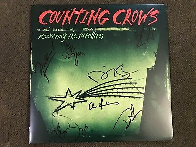 Counting Crows Signed Vinyl Recovering the Satellites Record LP Adam Duritz