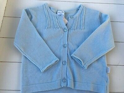 BNWT Max and Tilly pale blue cardigan Size 00