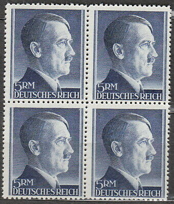 Stamp Germany Mi 802 Sc 527 Block 1941 WW2 3rd Reich Adolf Hitler MNH