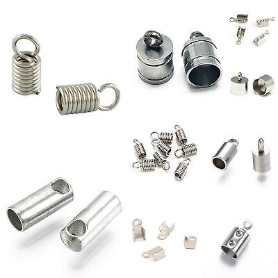 PICK SIZE Cord End Folding Crimp End Jewelry Findings Terminator Cord End Tip