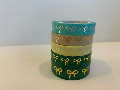 5 Rolls Simply Gilded Washi Tape
