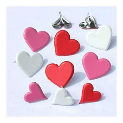 NEW Eyelet Outlet Shape Brads 12 Pack Heart