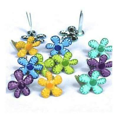 NEW Eyelet Outlet Shape Brads - Mini Bright Flowers