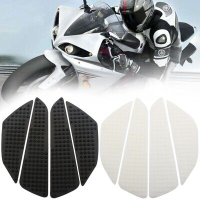 Universal Rubber Motorcycle Tank Side Knee Grip Traction Pad Protector AU New