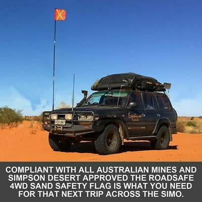 3M  High Sand Flag Safety Flag 4WD Towing Offroad Touring 4x4 Simpson Desert AU
