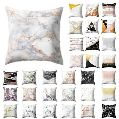 Home Room Decor Cushion Cover Marble Pattern Pillowcase Pillow Covers