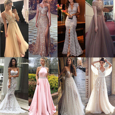 Women Formal Wedding Bridesmaid Evening Party Ball Prom Gown Cocktail Dress Lot
