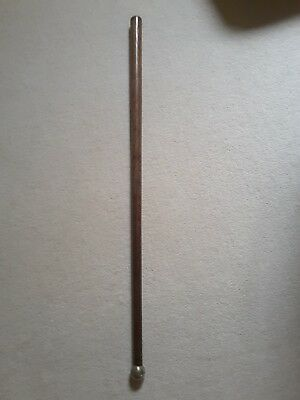 ANTIQUE TRIBAL POLE CLUB WITH METAL TOP oceanic? not knobkerrie