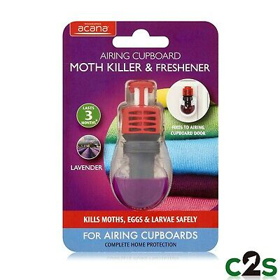 Acana Airing Cupboard Clothes Moth Killer and Freshener with Lavender Fragrance