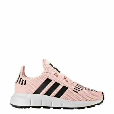 adidas Swift Run Infant Girls UK 4 EU 20 Ice Pink Lace Up Sneaker Trainers Shoes