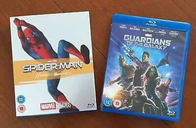 Marvel Blu-ray Bundle  Guardians Of The Galaxy, Spiderman Homecoming + Slipcover