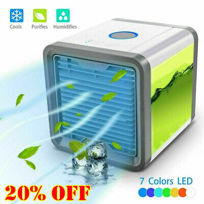 Air Conditioner Fan Mini Cool Bedroom Desk Portable Cooler Cube Water USB NEW