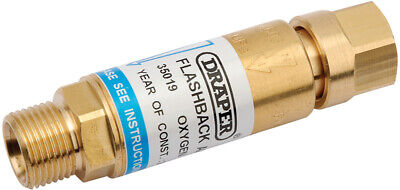 Genuine DRAPER In-Line Oxygen Flashback Arrestor 35019