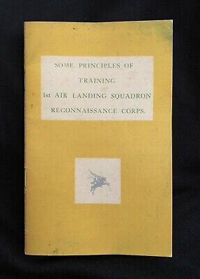 WW2 1st Air Landing Squadron Reconnaissance Corps Airborne Training Manual