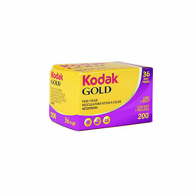 Kodak Gold 200ISO 35mm/135 Print 36 Exp Color Colour Camera Film Pack of 3