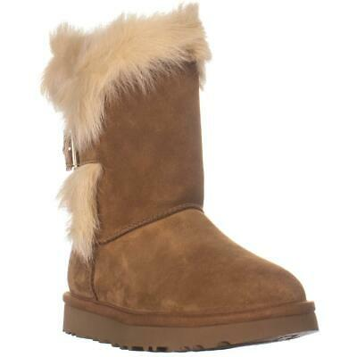a830e93f9e0 UGG AUSTRALIA DEENA FUR TRIM BUCKLE WOMEN'S BOOTS sizes 1019642 ...