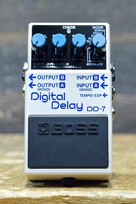 Boss DD-7 Digital Delay 8-Delay Mode up to 6.4 Seconds Stereo Delay Effect Pedal