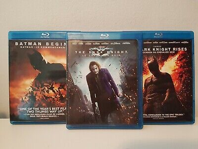 The Dark Knight Trilogy (3-Pack) [Blu-ray] Canadian French Included Bilingual