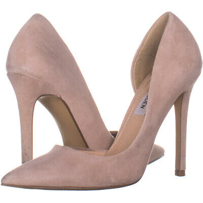 0fa457ac80a STEVE MADDEN FELICITY Grey Suede Pumps pointy toe Size 12 women ...