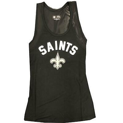 3d52d8c8 NEW ORLEANS SAINTS Tank Top Wordmark Arch Heathered Mesh Sleeveless Top