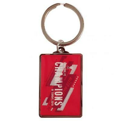 Liverpool Fc Champions Of Europe Metal Keyring - Official Gift