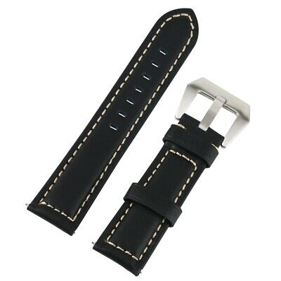 20/22/24/26MM Genuine Leather Wristwatch Bands Replacement Watchband