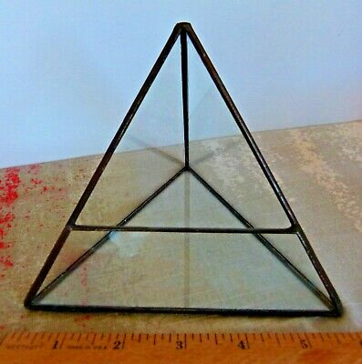 Pyramid Glass Geometric Terrarium Indoor Tabletop Succulent Plant Box Planter