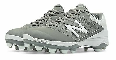 New Balance Low-Cut 4040v1 TPU Softball Cleat Womens Shoes Grey with White Size