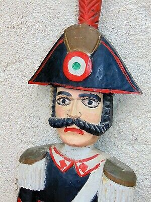 """42"""" wood carved French Store display lrg Figure  *Cop ** Officer"""
