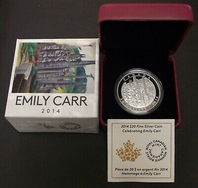 2014 Fine 1oz Silver Emily Carr Totem Forest Canada $20 Dollars RCM PR Coin, B56