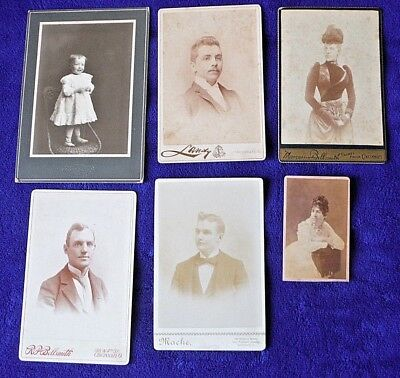 lot 6 antique cabinet cards real PHOTOS CINCINNATI OH ornate typography c1900s