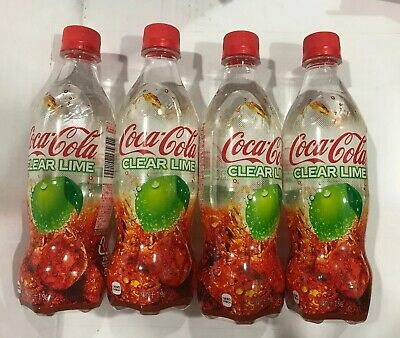 Coca Cola Clear Lime 2019 Limited Edition Japanese Soda *4 Bottles Usa Ship!