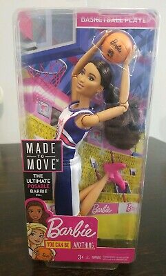 Barbie Posable Made To Move Basketball Player Doll African American FXP06 New