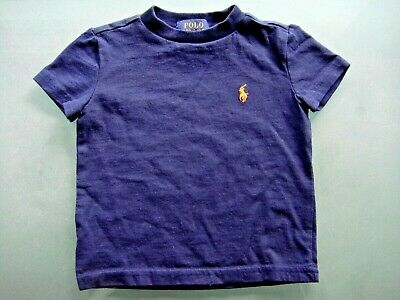 Polo Ralph Lauren Boys Navy Blue Crew Neck T-Shirt / Tee Size 12Mo Euc