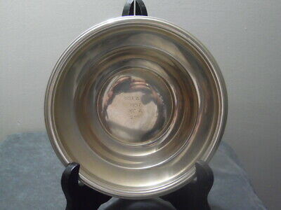 "Berkeley~International~Sterling~Silver~6"" Award Bowl~USEASA 1957 XC A 2nd Place"