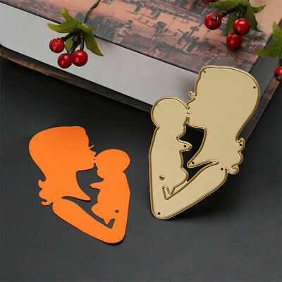 Beautiful Mother Kiss Baby Metal Cutting Dies Photo Album Decor Cutter Card LDMR
