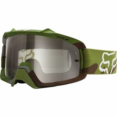 Green Brown/Grey Fox Racing Air Space Camo Youth Goggles