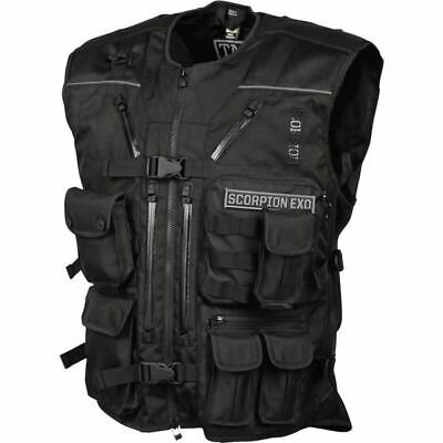 Scorpion EXO Covert Tactical Textile Vest - Blk, All Sizes