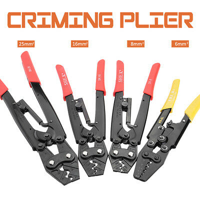 Ratchet Cable Crimper Plier Electrical Non-insulated Ferrule Wire Crimping  new