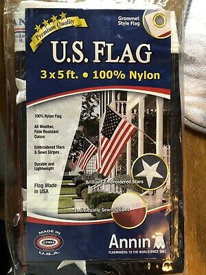 Annin U.S. American Flag 3x5 ft Embroidered Star Premium Quality USA!