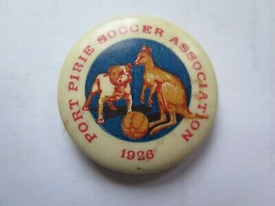 1926 PORT PIRIE SOCCER ASSOCIATION MEMBERSHIP TINNIE or BADGE KANGAROO & BULLDOG