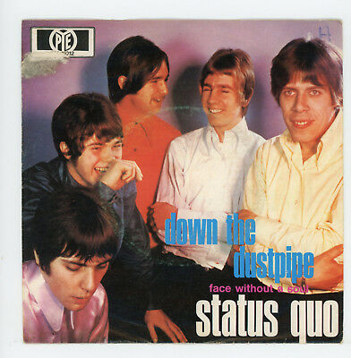 """STATUS QUO : Down The Dustpipe / Face Without A Soul - 7"""" GERMANY 1970"""