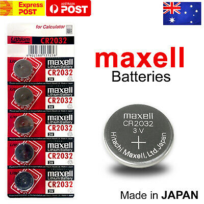 Maxell CR2032 3V LITHIUM BUTTON COIN BATTERY MADE IN JAPAN EXPIRES: 12/2028