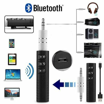 Bluetooth Wireless 3.5mm Phone To AUX Car Stereo Music Receiver Adapter with Mic