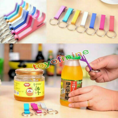 3 X Key Chain Keychain Ring Beer Bottle Can Opener Beverage Metal Colorful